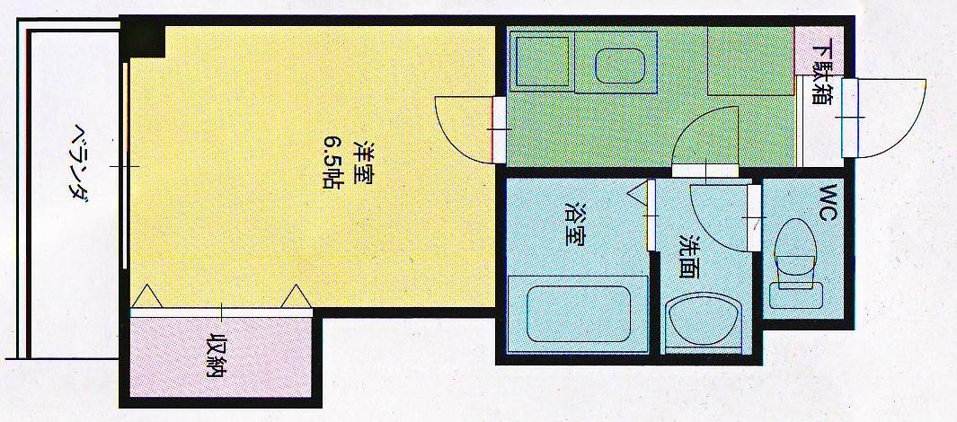 間取り中601-709号室